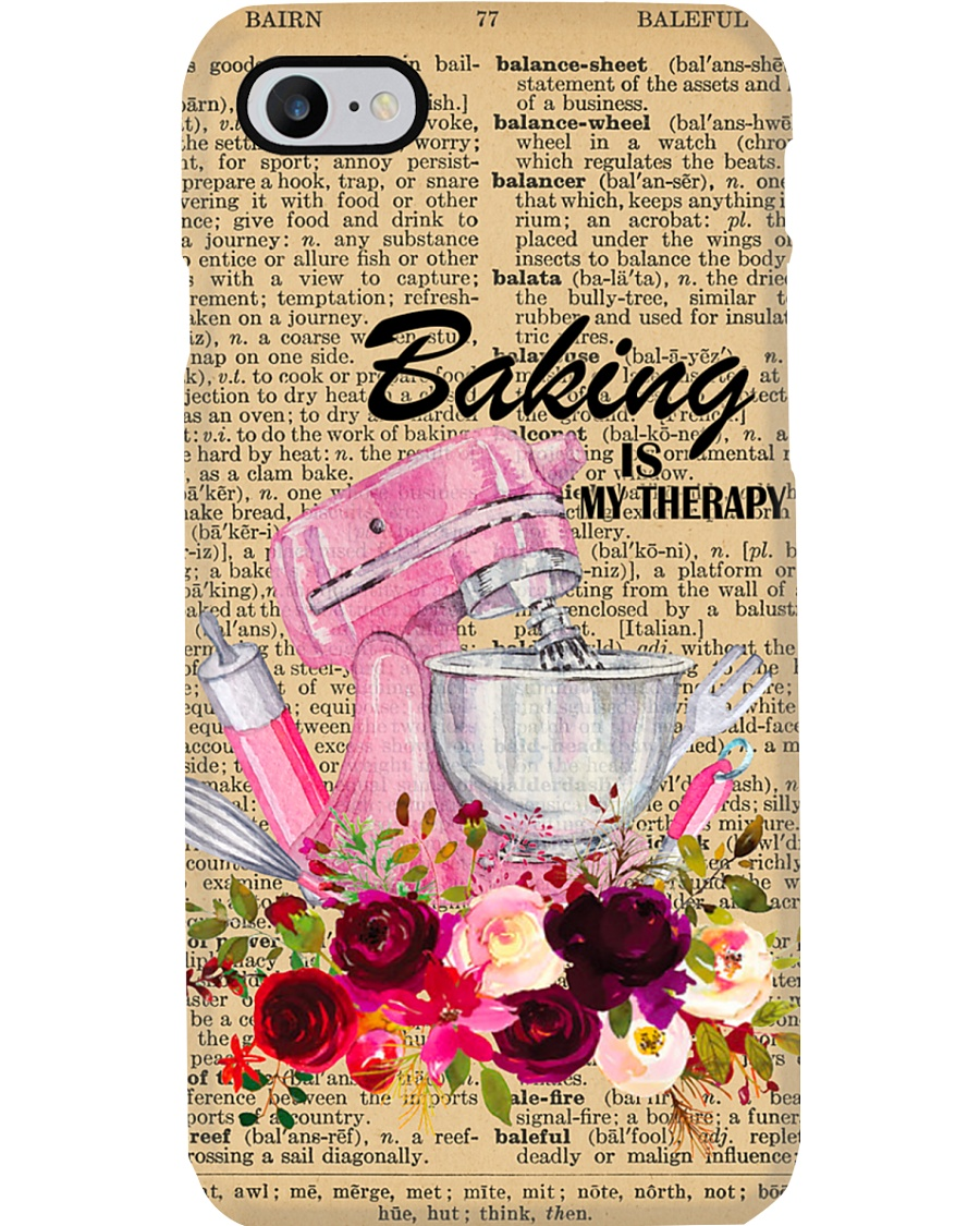 Baking Is My Therapy Phone Case