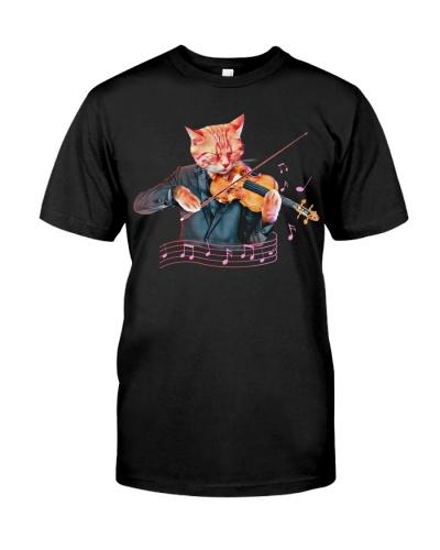 Cool cat playing Viola