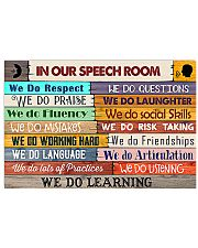 SLP In Our Speech Room 17x11 Poster front
