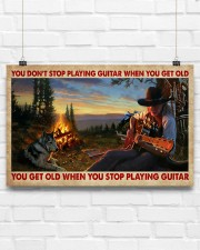 You Get Old Playing Guitar 17x11 Poster aos-poster-landscape-17x11-lifestyle-17
