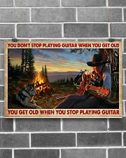 You Get Old Playing Guitar 17x11 Poster poster-landscape-17x11-lifestyle-18