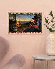 You Get Old Playing Guitar 17x11 Poster poster-landscape-17x11-lifestyle-22