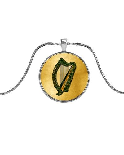 Irish Harp On Gold