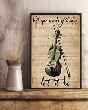Violin Whisper Words Of Wisdom Let It Be 11x17 Poster lifestyle-poster-3
