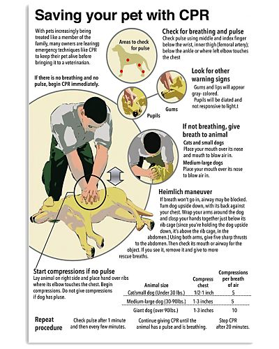Veterinarians Saving your pet with CPR poster