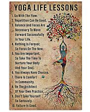 Yoga life lessons 11x17 Poster front