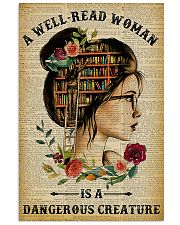 Book A Well-read Woman Is A Dangerous Creature 11x17 Poster front