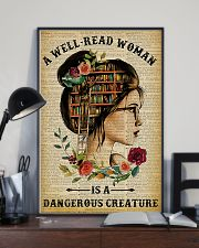 Book A Well-read Woman Is A Dangerous Creature 11x17 Poster lifestyle-poster-2