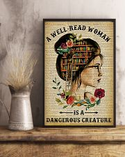 Book A Well-read Woman Is A Dangerous Creature 11x17 Poster lifestyle-poster-3
