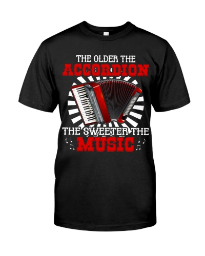 Accordionist The older accordion the sweeter music