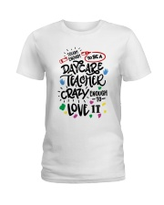 Tough Enough To Be A Daycare Teacher Ladies T-Shirt front
