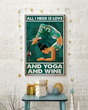 Yoga - All I Need Is Love And Yoga And Wine 11x17 Poster lifestyle-holiday-poster-3