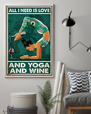 Yoga - All I Need Is Love And Yoga And Wine 11x17 Poster lifestyle-poster-1