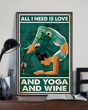 Yoga - All I Need Is Love And Yoga And Wine 11x17 Poster lifestyle-poster-2