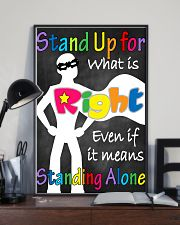 Social Workers Stand Up For What Is Right 11x17 Poster lifestyle-poster-2