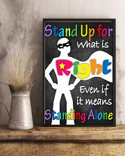 Social Workers Stand Up For What Is Right 11x17 Poster lifestyle-poster-3