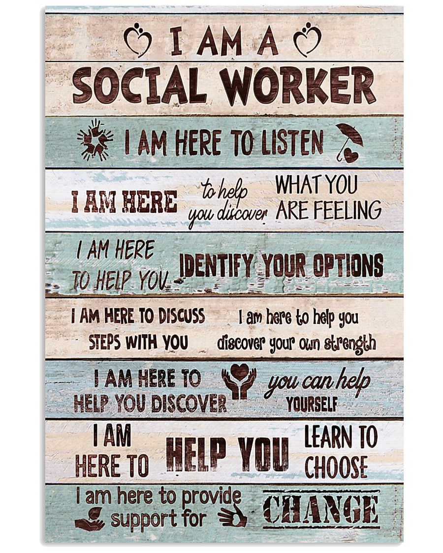 Social worker I am here to provide support Poster 11x17 Poster
