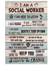 Social worker I am here to provide support Poster 11x17 Poster front