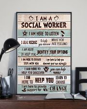Social worker I am here to provide support Poster 11x17 Poster lifestyle-poster-2