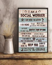 Social worker I am here to provide support Poster 11x17 Poster lifestyle-poster-3