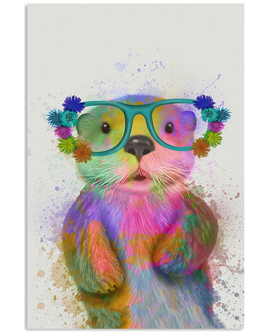 Otter Watercolor Cute 11x17 Poster