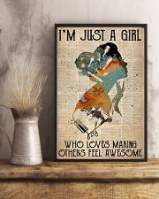 Hairdresser Just A Girl 11x17 Poster lifestyle-poster-3