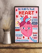 Be Kind To Your Heart Cardiologist 11x17 Poster lifestyle-poster-3