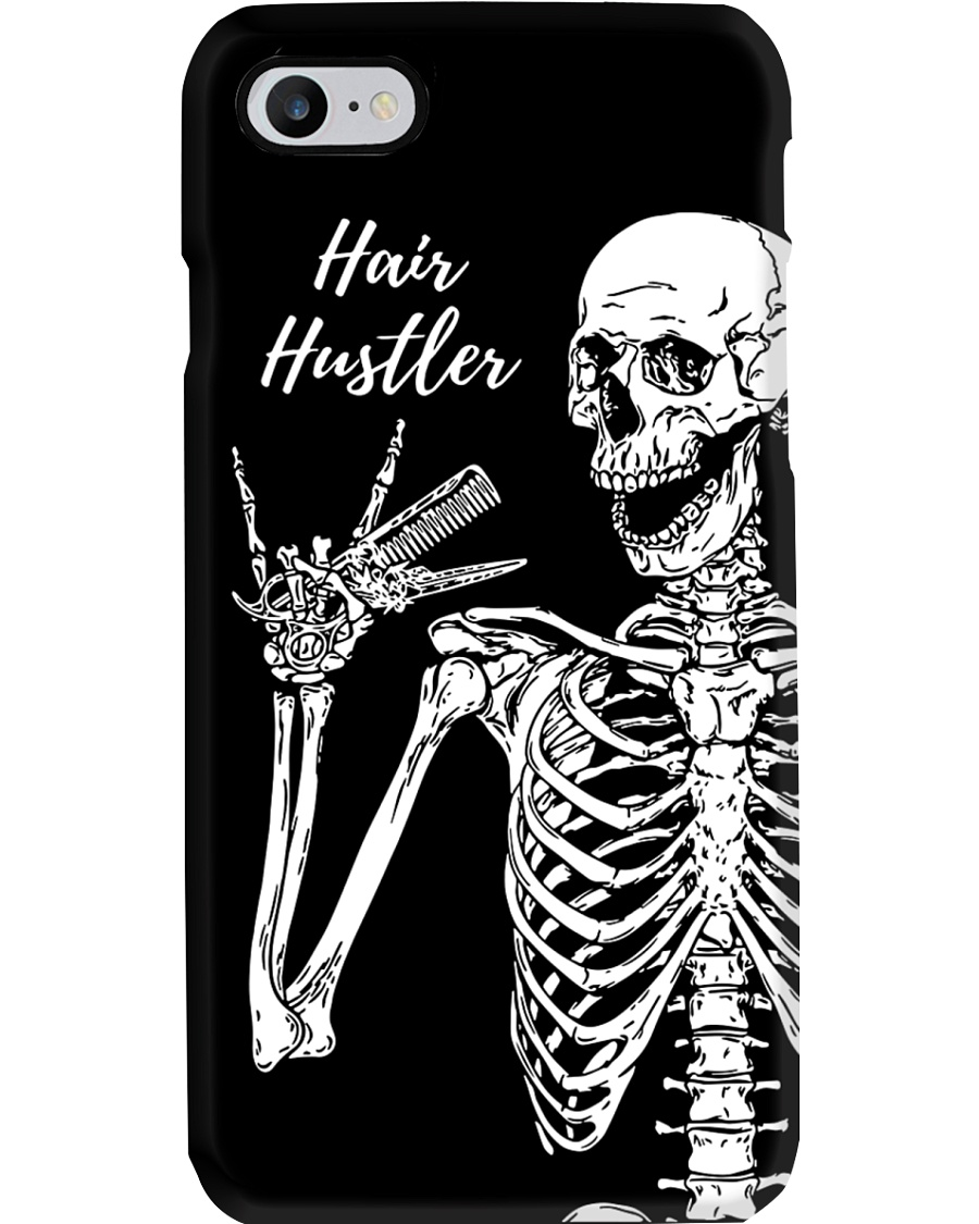 Hairdresser Hair Hustler Skeleton Phone Case