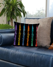 Colorful Oboe Square Pillowcase aos-pillow-square-front-lifestyle-02