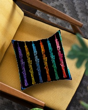 Colorful Oboe Square Pillowcase aos-pillow-square-front-lifestyle-07