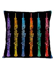 Colorful Oboe Square Pillowcase back