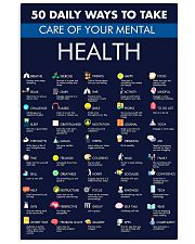 50 Daily Ways To Take Care Your Mental Health 11x17 Poster front