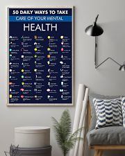 50 Daily Ways To Take Care Your Mental Health 11x17 Poster lifestyle-poster-1
