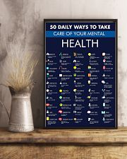 50 Daily Ways To Take Care Your Mental Health 11x17 Poster lifestyle-poster-3