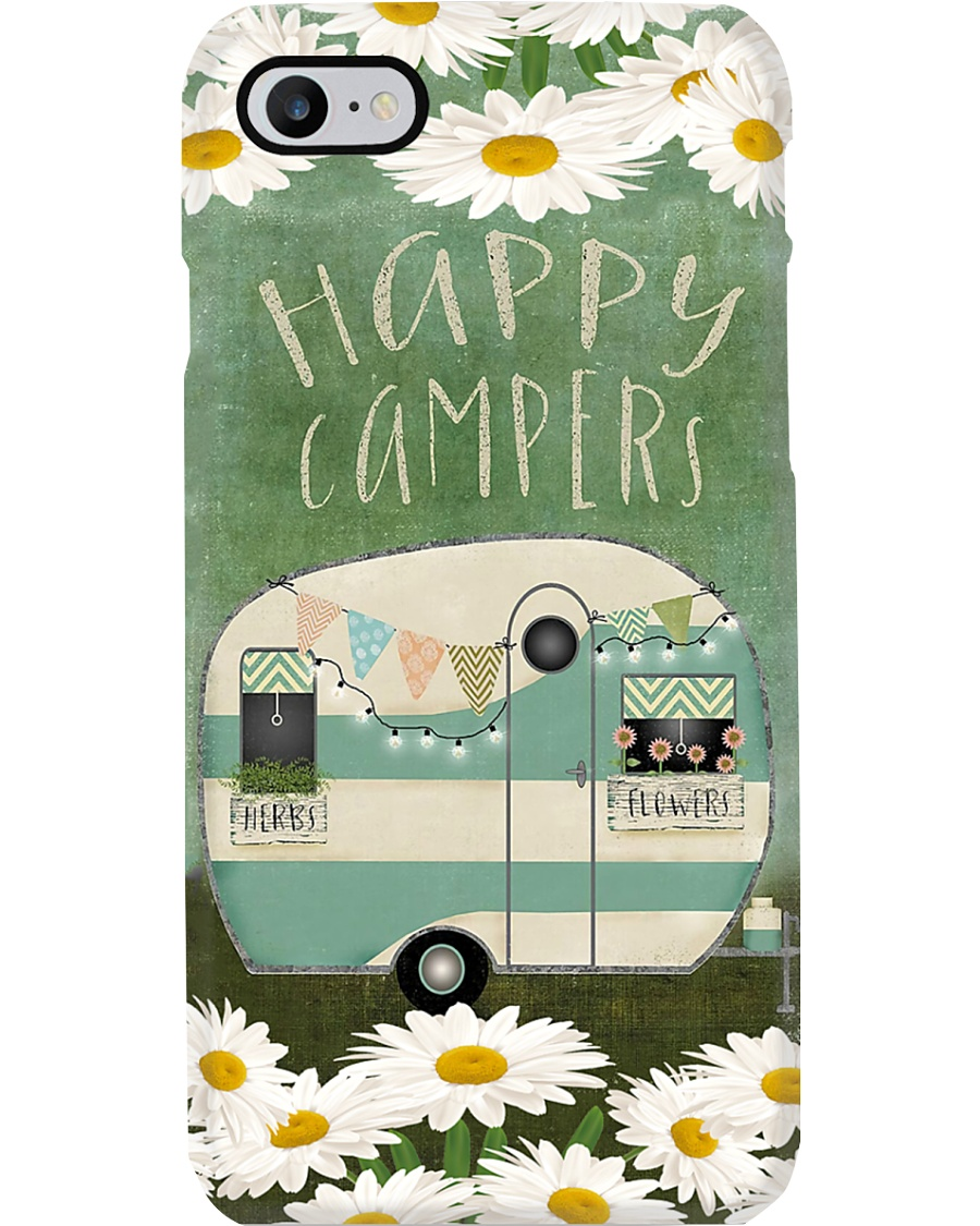 Happy Campers With Herbs And Flowers Phone Case