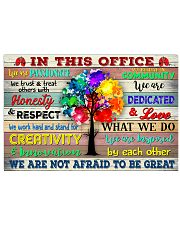 RT In This Office We Are Not Afraid To Be Great 17x11 Poster front