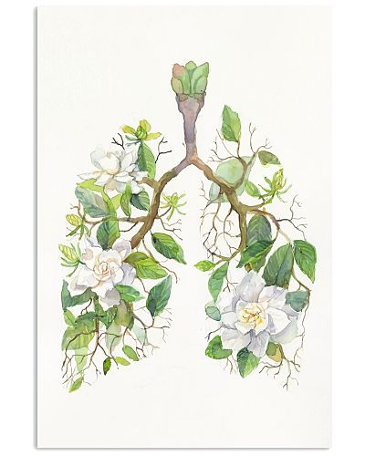 Respiratory Therapist Floral Lungs Anatomy