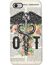 Occupational Therapy Caduceus Flower Phone Case thumbnail