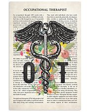 Occupational Therapy Caduceus Flower 11x17 Poster front