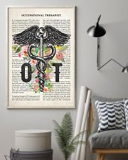 Occupational Therapy Caduceus Flower 11x17 Poster lifestyle-poster-1