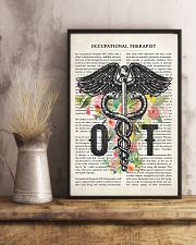 Occupational Therapy Caduceus Flower 11x17 Poster lifestyle-poster-3