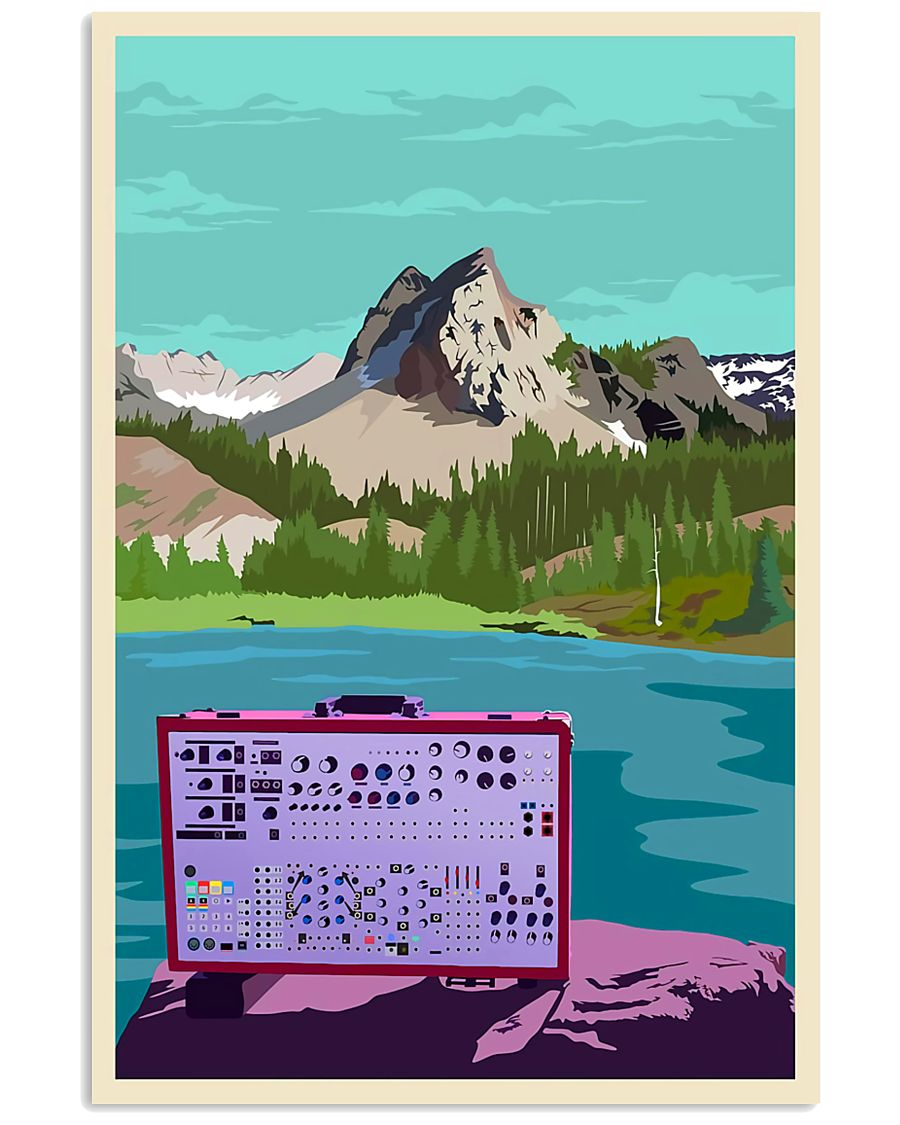 Synthesizer And Mountain Art Print  11x17 Poster