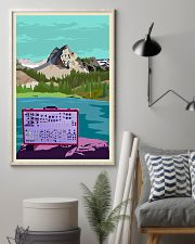 Synthesizer And Mountain Art Print  11x17 Poster lifestyle-poster-1