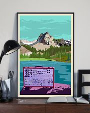 Synthesizer And Mountain Art Print  11x17 Poster lifestyle-poster-2