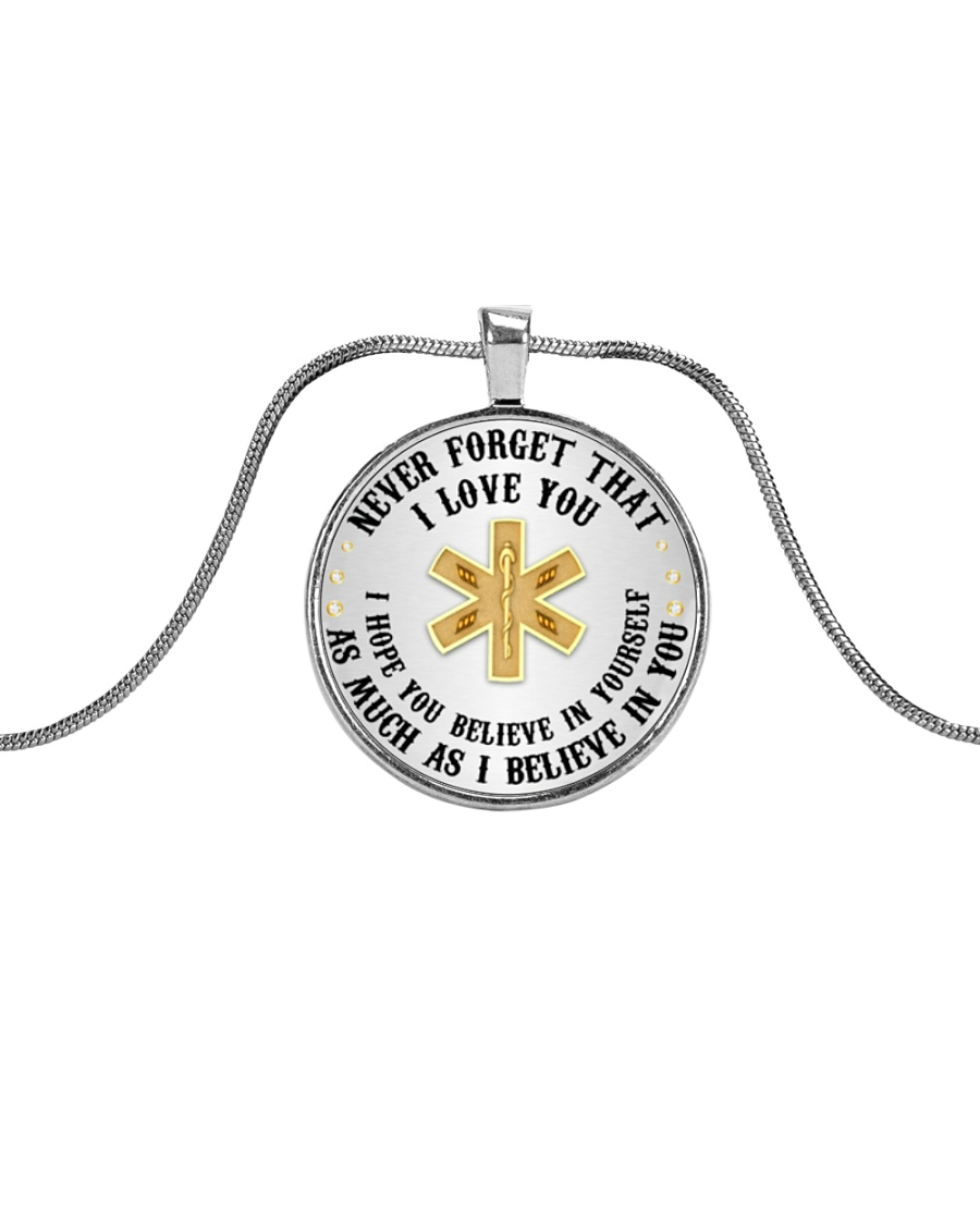 Paramedic I Believe In You Metallic Circle Necklace