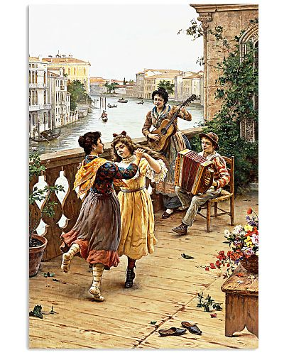 Accordion Dancing Children Poster