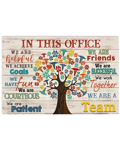 Veterinarian We are a Team Poster