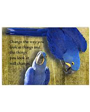 Parrot Change the way you look at things 17x11 Poster front