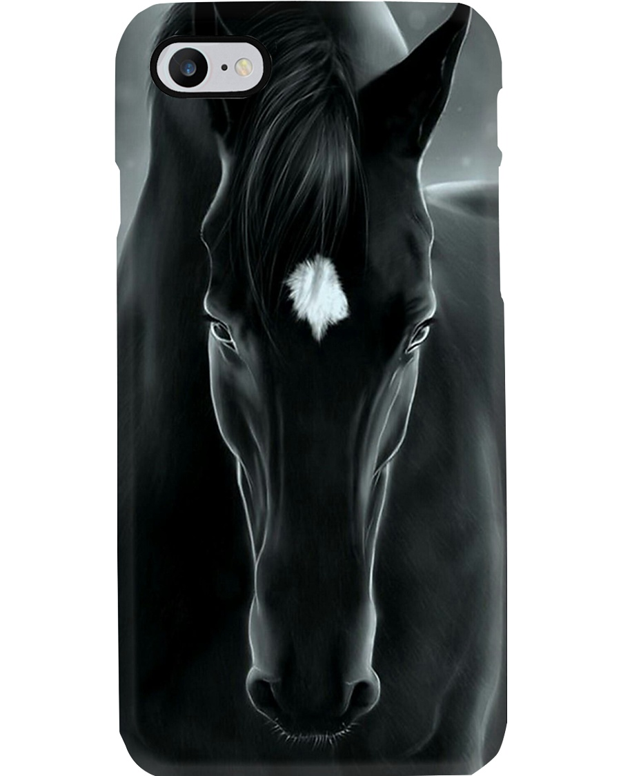 Horse Girl Black Horse Phone Case