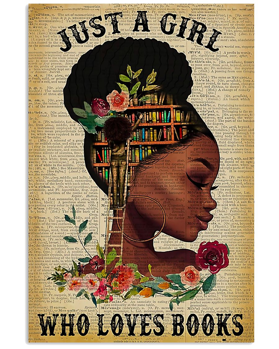 Book Just A Girl Who Loves Books 11x17 Poster